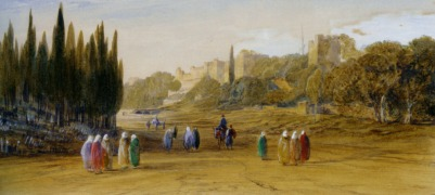 Lear_Edward_Walls_of_Constantinople_pencil_and_watercolor-large