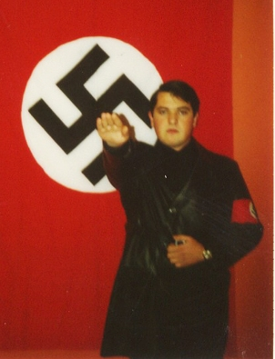 christos pappas, deputy leader of Golden Yawn as a young boy giving salute