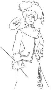 vesta in dress