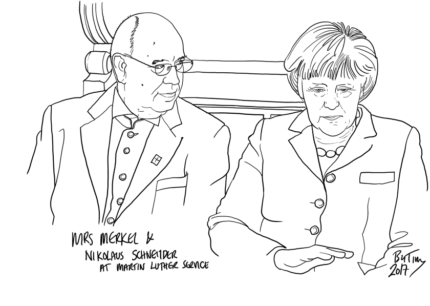 Mrs Merkel Martin Luther by TIM