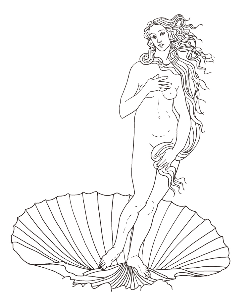 birth of venus after Botticelli by TIM