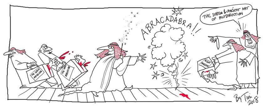 cartoon khashoggi by TIM