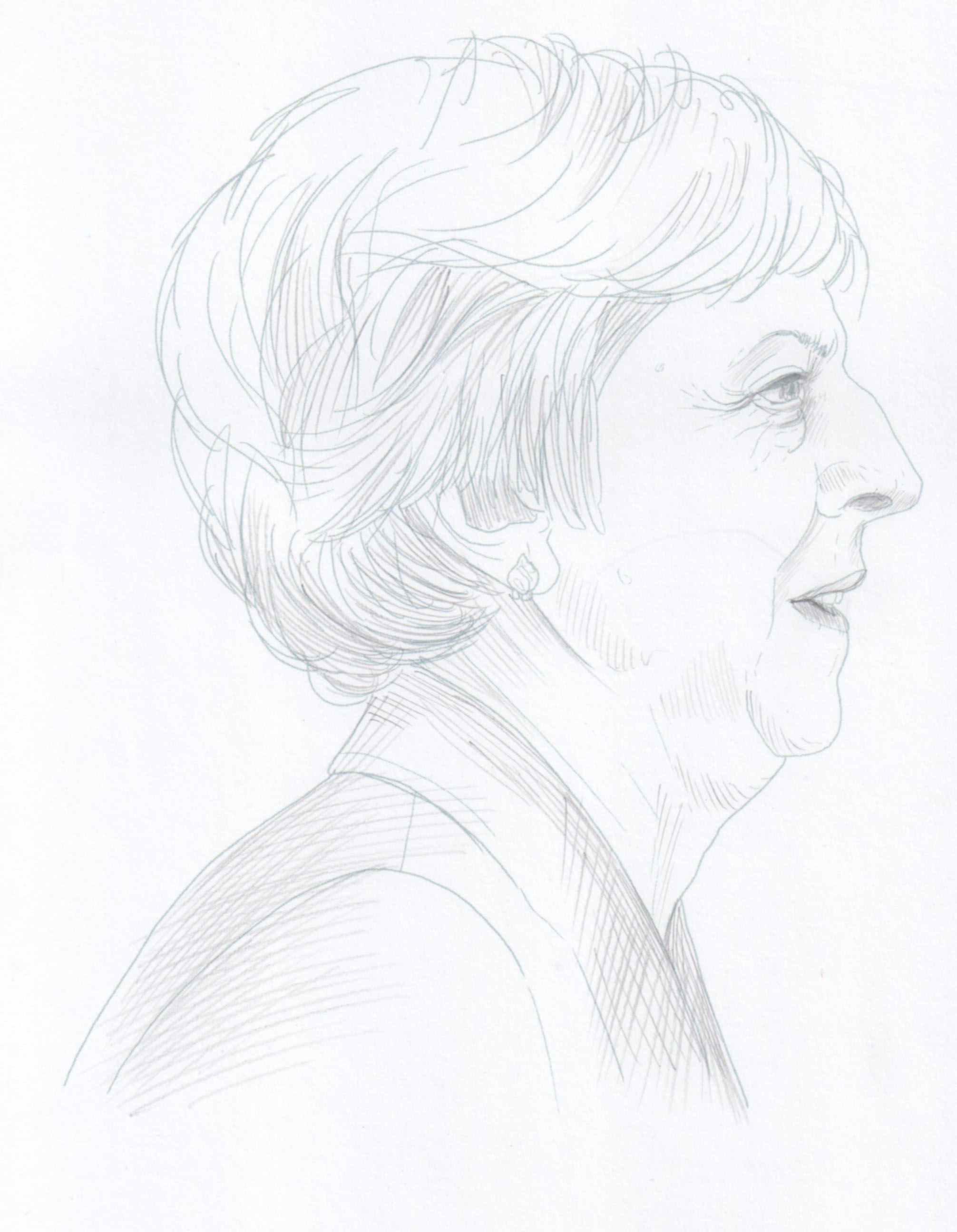 mrs May looking like a postage stamp